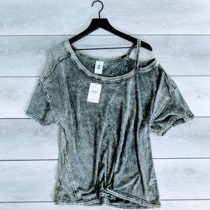 We the Free Alex Cutout Tee in Army Size Lg NWT